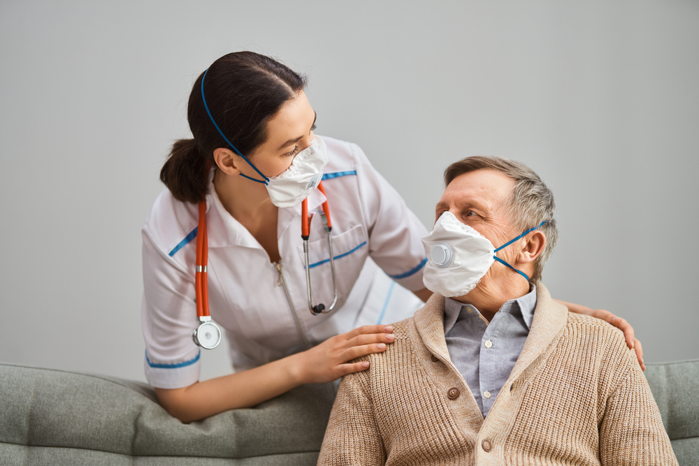 nurse checking up